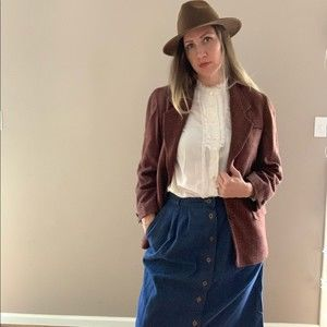 Christian Dior Wool Cashmere Oversized Blazer